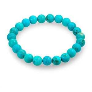 Turquoise Stretchy Beaded Bracelet